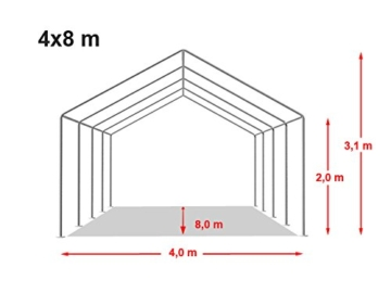 Profizelt24 PVC 4x8m