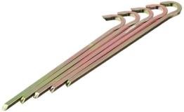 10T PEG IT 5VK 22EV - Stahl Vierkant-Hering 5er-Set -