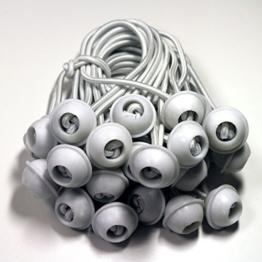 25 Stk. Gummischlaufen Spanngummis Zeltgummis Bungees für Pavillon, Partyzelt, Lagerzelt - Zeltzubehör - lang -