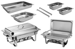 2x Chafing Dish Speisewärmer Warmhaltebehälter Edelstahl Buffet-Set -