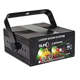 80 Muster ändern 5-Linsen LED Landschaft Garten Bühne Licht Sprachaktivierte LED Projektor Weihnachten Licht mit Fernbedienung -