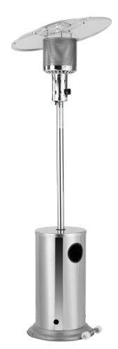 Activa Edelstahl Heizpilz mit Schwenkreflektor bis max. 12 kw, Silber -