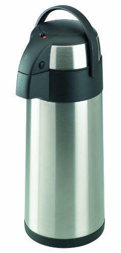 Airpot 3L mit Pumpmechanismus Pumpkanne Isolierkanne Thermoskanne aus Edelstahl 3 Liter -