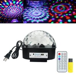 ALED LIGHT® Bluetooth Coresmart Fern bunten LED-Bühnenbeleuchtung Kristall Magic Ball-Lichteffekt-Licht für Party, Disco mit MP3-Funktion(mit USB) -