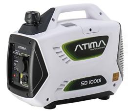 Atima SD1000i Tragbarer Inverter Benzin Stromgenerator Stromerzeuger Lauf.900W/Max.1000W -