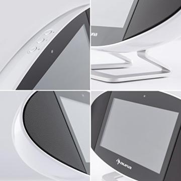 auna Swizz Soundpad Mediacenter Stereoanlage Kompaktanlage Multimedia-Musiksystem (Android 4.4, farbiges Touch-Display, WiFi, Bluetooth, AirPlay, DLNA, Fernbedienung) weiß -