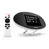 auna Swizz Soundpad Mediacenter Stereoanlage Kompaktanlage Multimedia-Musiksystem (Android 4.4, farbiges Touch-Display, WiFi, Bluetooth, AirPlay, DLNA, Fernbedienung) weiß -