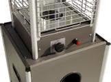 Beach & Pool Terrassenheizer VIDRO anthrazit Heizpilz mit Glasröhre und außergewöhnlichem Design, CE-zertifizierter Gasheizer, Premium Qualität Terrassen-Heizstrahler Gas -