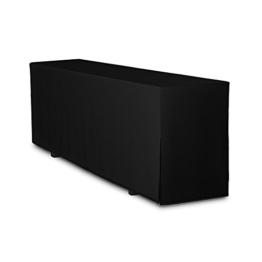 Biertischhusse Premium (nur Tisch 220cm) (50cm, Schwarz) -