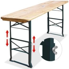 Bierzelttisch höhenverstellbar klappbar 180cm - Partytisch Bierzeltstehttisch Stehtisch -