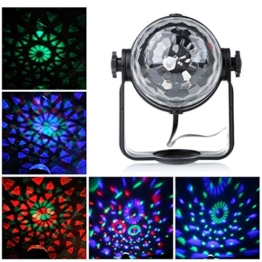 Blingco Mini LED Licht Rotation Automatisch Bühnenbeleuchtung 3W RGB Sprachaktiviertes Kristall Magic Ball Bühnenlicht für DJ Disco Ballsaal KTV Stab Stadium Club Party -