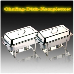 Chafing Dish Multi - Twin Set 16 tlg. incl. 4 Brennpastenbehälter -