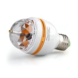 CroLED E27 3W LED Rotierend Rotating RGB Lampe Licht Birne Party AC 85-260V Lichteffekt -