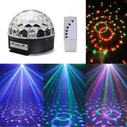 CroLED RGB Lasereffekt Projektor - Disco DJ Stage Lighting LED - MP3 Funktion - Kristall Magic Ball Effect Licht -für Weihnachtsparty Disco Party Klub MP3/USB/Fernbedienung/Sound-aktiv -