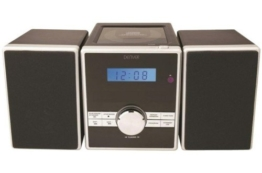 Denver 12110370 Micro Soundsystem mit PLL-FM Radio, CD-Player und AUX-In -