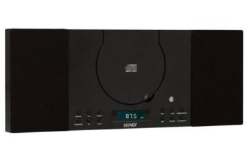 Denver MC-5010 Musik-Center (CD-R/RW, AUX-In, Wandhalterung, Weckerradio) schwarz -