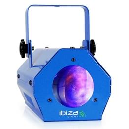 Dieses Moonflower-Lichtspiel der neuesten Generation erzeugt zahlreiche Effekte, dynamische Muster und Farben. Ideal für mobile Discos und kleine Clubs blau -