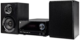 Dual DVD-MS 120 DVD-Micro Anlage mit CD/DVD-Player (UKW/RDS-Tuner, 50 Watt, USB, HDMI, AUX-In, On Screen Display, Fernbedienung) schwarz -