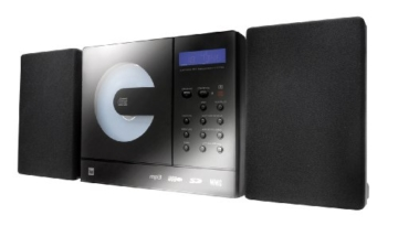 Dual Vertical 150 Kompaktanlage (CD/MP3/WMA-Player, UKW-Tuner, USB, SD-Kartenslot) Schwarz -