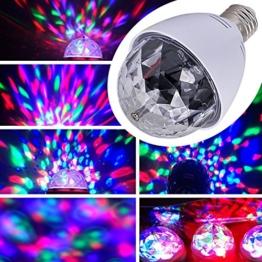 E27 3W LED RGB Lichteffekt Licht Lasereffekt Projektor Kristall Magic Ball Effect Licht Drehen Automatisch für Weihnachtsparty Disco Party Klub Club -