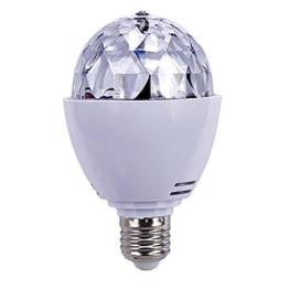 E27 3W Partylicht DJ LED RGB Licheffekt Rotierende Farblicht Birnen Lampen für Weihnachtsparty Disco Musik LED Beleuchtung (Weiß) -