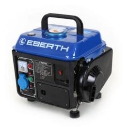 EBERTH 750 Watt Benzin Stromerzeuger Notstrom Stromaggregat Generator (2 PS, Seilzugstart, Ölmangelsicherung, 62 dB (7m), Laufzeit 5-6 Std.) -