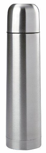 Edelstahl Isolierflasche doppelwandig 1 Liter Thermosflasche Thermoskanne Isolierkanne Thermoflasche mit Druckknopf System -