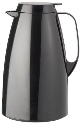 Emsa 505363 Isolierkanne, 1.5 Liter, Quick Tip Verschluss, 100% dicht, Schwarz, Basic -