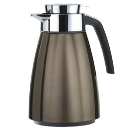 Emsa 513812 Isolierkanne, Eddelstahl 1 Liter, Aroma Diamond, Quick Tip Verschluss, Chocolate, Bell -