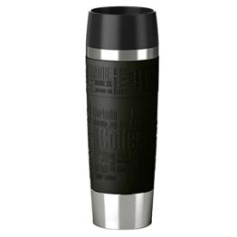 Emsa 515615 Isolierbecher, Mobil genießen, 500 ml, Quick Press Verschluss, Schwarz, Travel Mug Grande -