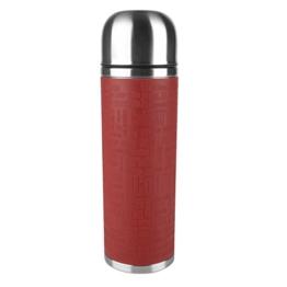 Emsa 515715 Isolierflasche, Mobil genießen, 1 l, Safe Loc Verschluss, Rot, Senator Manschette -