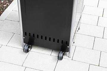 Gasheizer Heizpilz 'Optical Pro' SCHWARZ MATT Heizstrahler Terrassenheizer NEU -