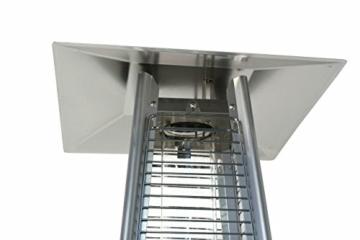 Heizstrahler Traedgard® Design Vesuvio Activa Cheops, mit Rollenset, Gastroset und SCHOTT Glasröhre -