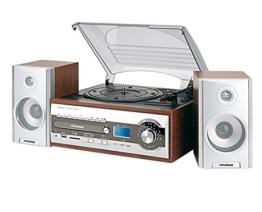 HYUNDAI Multimedia Nostalgie Kompaktanlage Stereoanlage HiFi Musikanlage RADIO CD MP3 USB SD CARD FERNBEDIENUNG PLATTENSPIELER -