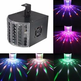 KINGSO 6W LED Lichteffekt Licht Disco RGB Stimme Aktiviert Licht Mini Bühnen Licht Bunt Bühnenbeleuchtung DMX512 für Disco KTV Party Hochzeit Bar Tanzen -