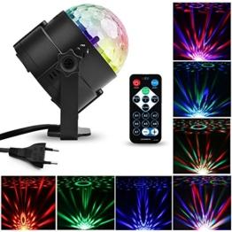 LED Disco Licht Beleuchtung, MTURE Party licht Weihnachten Stadiums-Lichter Diskokugel Lampe Stimmenaktiviert Lampe Bühnenbeleuchtung für Weihnachtsparty Disco Party Klub Sound-aktiv/Fernbedienung/MP3/USB 7 Farbe RGB Led Effekt -