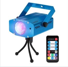 Lixada 9W Farbwechsel Mini LED Wasser Wave Ripple Effect Bühne Licht Lampe mit Controller für Disco KTV Club Party -