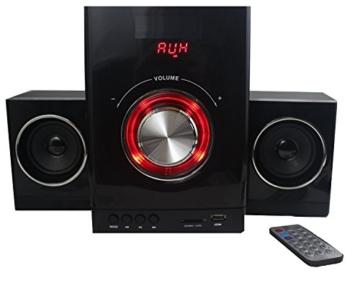 Multimedia Design Kompaktanlage Stereoanlage 2.1 Sound System Mini HiFi Musikanlage USB SD-Card Radio -