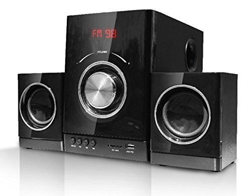 multimedia design kompaktanlage stereoanlage 2 1 sound system mini hifi musikanlage usb sd. Black Bedroom Furniture Sets. Home Design Ideas