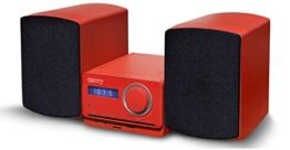 Multimedia Design Kompaktanlage Stereoanlage Kinder Mini HiFi Musikanlage in Rot oder Blau (Rot) -