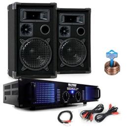 PA Party Kompakt Musikanlage PA Boxen 2400W Verstärker Kabel DJ-484 -
