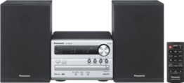 Panasonic Micro HiFi System SC-PM250EG-S (20 Watt RMS, CD, Radio UKW, Bluetooth) silber -