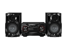 Panasonic SC-AKX200E-K Kompaktes CD Musiksystem (Bluetooth, Radio Tuner (FM/AM), 2x USB, AUX-IN, DJ Jukebox, 400 Watt RMS) schwarz -