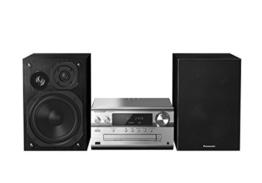 Panasonic SC-PMX74EG-S Micro HiFi System (120 Watt RMS, CD, Radio UKW/DAB+, Bluetooth, NFC) silber -