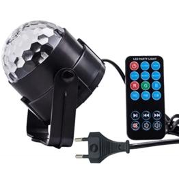 Partylicht LED DiscoLicht Beleuchtung - Spriak LED RGB Spot Party Light mit 3W, Fernbedienung und akustischer Steuerung. Als Bühnenbeleuchtung, Effektlicht, für die Disco, Tanzfläche, zu Halloween, Weihnachten oder auch für Hochzeiten, Bars, Clubs und vieles mehr. Lichtstreuung wie bei einer Discokugel -