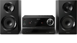 Philips BM60B/10 kabellose Multiroom Power-Stereoanlage (izzy System, Bluetooth, CD, UKW, USB, 130 Watt) schwarz -