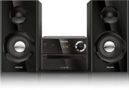 Philips BTM2180 Kompaktanlage mit Bluetooth (70W, Bassreflex, USB, UKW, CD-MP3) schwarz -