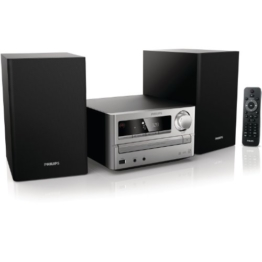 Philips MCM2000/12 Kompaktanlage (CD/MP3/WMA-Player, 20 Watt, USB) silber -