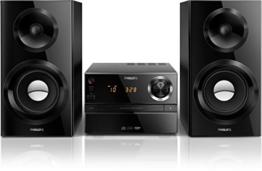 Philips MCM2350/12 Stereoanlage 70 Watt, Bassreflex schwarz -