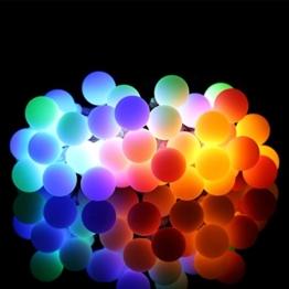 ProGreen 40er Kugeln RGB Lichterkette, IP65 Wasserdicht, batteriebetriebene Lichterkette für Innen- und Außenbeleuchtung, geeignet für Party, Weihnachten, Hochzeit, in den Ferien, tägliche Zimmerdekoration usw. -